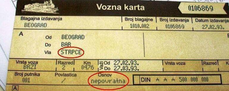 Zločinci su 27. februara 1993. godine iz voza 671 na putu Beograd - Bar u mjestu Štrpci izveli 20 putnika... piše autor (Arhiva)