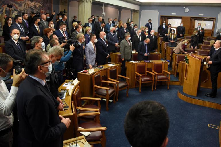 Sjednicu Skupštine obilježile su teške riječi između predstavnika partija na vlasti i premijera (EPA)