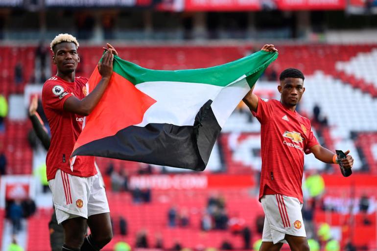 Pogba i Diallo neće se suočiti sa sankcijama zbog isticanja palestinske zastave (EPA)