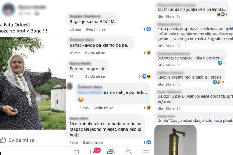 """Lažna vijest propraćena je gomilom komentara tipa """"Ne može se protiv Boga"""", """"Stigla je kazna Božja!"""" (Facebook/screenshot)"""
