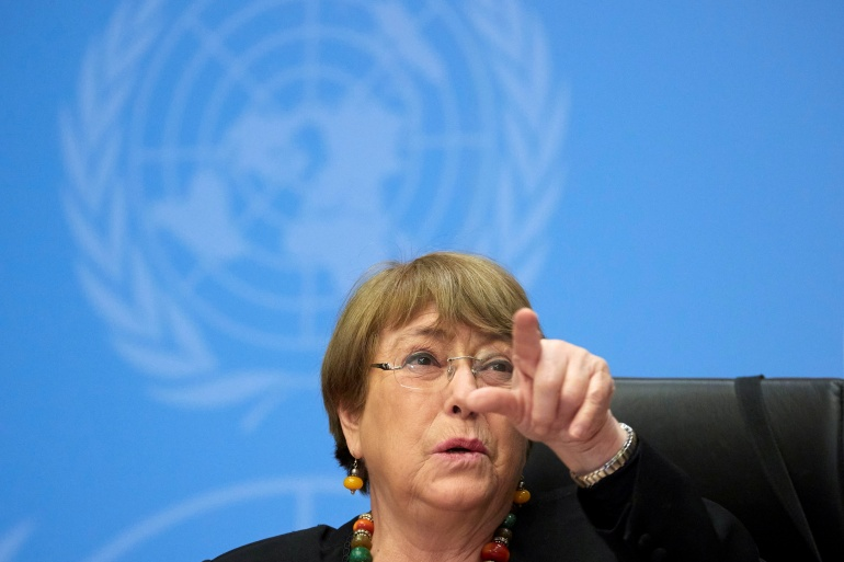 Michele Bachelet je pod pritiskom zapadnih zemalja da se izbori za pristup Xinjiangu (Reuters)