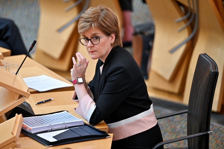 Premijerka Škotske posebno je istakla Bakiru Hasečić kao ženu koja se borila za pravdu žrtava silovanja (Getty)