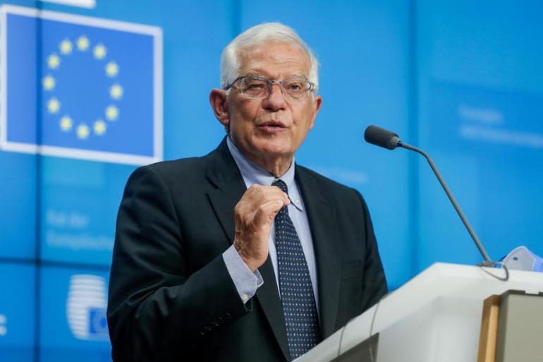 Srebrenica je međunarodno priznat genocid i jedno od najmračnijih mjesta u savremenoj evropskoj historiji, rekao je Josep Borrell (EPA)