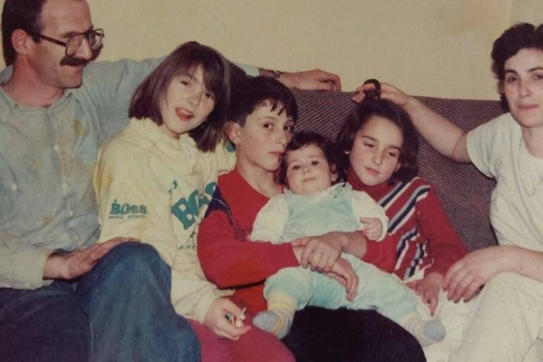 Kalinovački ljekar Abdurahman Filipović s porodicom (Ustupljeno Al Jazeeri)