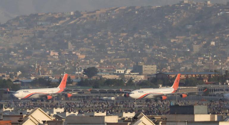 Pogled na pistu aerodroma u Kabulu  (EPA)