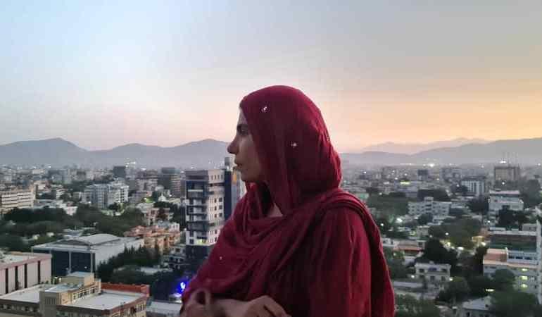 Na krovu u Kabulu 21. augusta, Nadima je odlučna da ostane i napravi najbolje od onog što joj ovaj grad može ponuditi [Fotografiju ustupila Nadima]