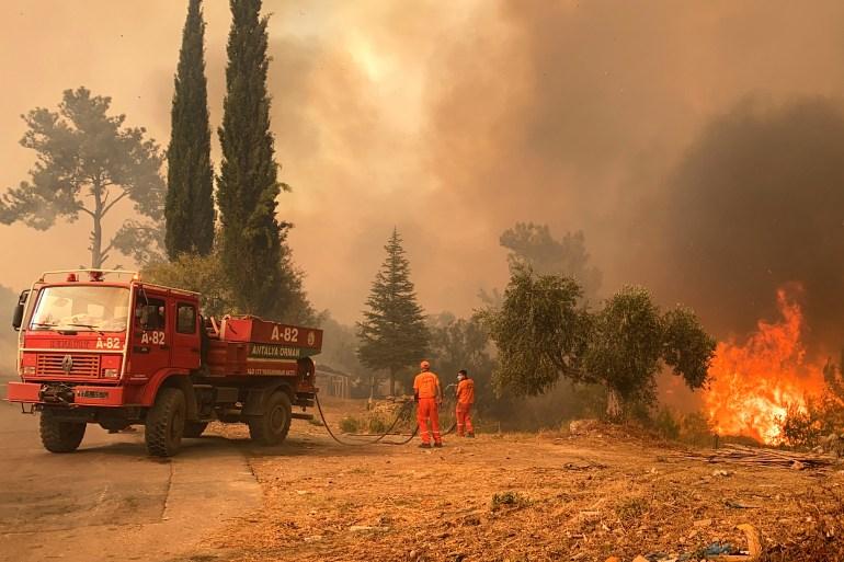 Manavgat je među mjestima koja su najpogođenija požarima (AFP)