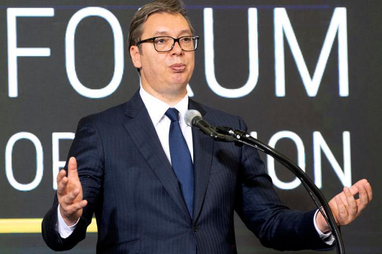Evropa nas želi onoliko koliko je potrebno da ne pravimo probleme, ocijenio je srbijanski predsjednik Aleksandar Vučić (EPA)