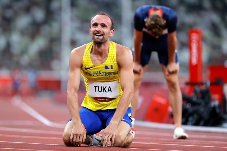 Rezultat olimpijaca Amela Tuke i Mesuda Pezera, ulazak u finale OI, velik je kao zlatna medalja, smatra Nijaz Skender sa Pedagoškog fakulteta u Bihaću (EPA)